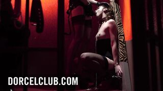 Ariel submissed to her domme's perversions in SM club