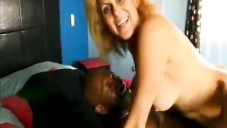 Well-hung ebony chap went on trip where wearful white aged ladies like blond cougar Dana Devine could be able to have a fun vigour of real ebony studhorse