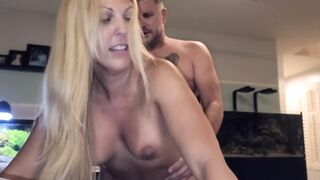 Hotwife Sara Anne Gets a Visit from an old Ally! Double Creampie!