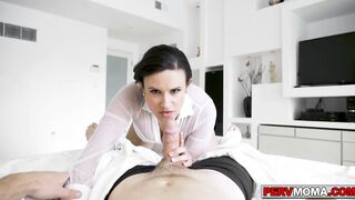 Stepmom walks in on her stepson with his boner below the sheets (Penny Play, Penny Barber, Robby Echo, Penney Play)