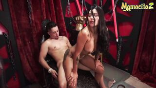 MAMACITAZ - Large Melons Latin Chick Boss Mariana Martinez Bangs With Sexually Excited Cleaning Guy