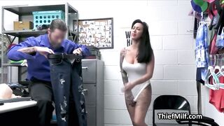 Bitchy large tit suspect drilled hard on the desk