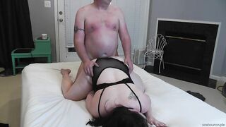 HOT big beautiful woman WIFE SCREWS AND FINISHES WITH MASSIVE THUNDER CLOUD SEX TOY! VIEW# 1
