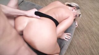 aged banged hard and cum facial - large tits golden-haired