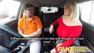 Fake Driving School Breasty older mother I'd like to fuck sucks and bangs favourable instructor