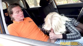 Fake Driving School Golden-Haired mother I'd like to fuck Tiffany Russo Bangs for Licence