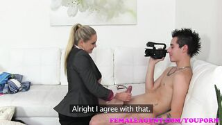 FemaleAgent mother I'd like to fuck gives man control of the camera for a hawt POV casting