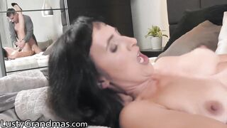 LustyGrandmas Hawt GILF Tastes her Youthful Neighbour's Large Jock