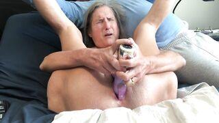 Hawt mother I'd like to fuck Cunt Gape Large Rabbit Masturbate Climax Close up Older Granny