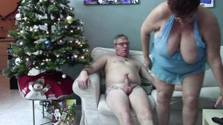 Breasty Redhead Gets Screwed Nice by Christmas Tree