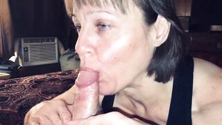 Aged Cougar Likes Sucking off her Youthful Dude POV BJ