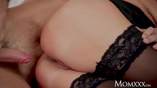 MAMMA Triple jizz flow for natural breathtaking blond mother I'd like to fuck Kathy Anderson