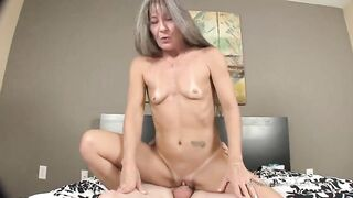 Petite titted aged is banging Derrick, since howdy jock got super hard, after this guy took Viagra