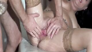 SICFLICS - Fist screwing the wife untill this babe voids urine herself in climax