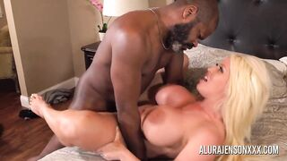 ALURAJENSONXXX - Breasty mother I'd like to fuck Alura Jenson pounded by a large ebony dong