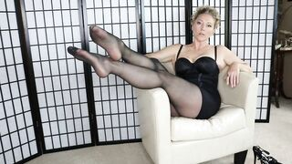 Older Mother I'd Like To Fuck Librarian Hot Legs and Feet onlyTease Leg Show for your Foot Fetish Series