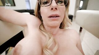 Step Mama with Large Melons is Screwed Whilst Stuck in a Fresh Chair - Cory Pursue