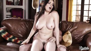 Dana Dearmond is a large titted brunette hair who loves to have sex with her step- son